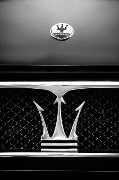 1967 Maserati Ghibli Grille Emblem Poster