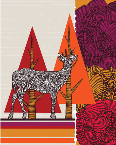 A Deer In Woodland Poster