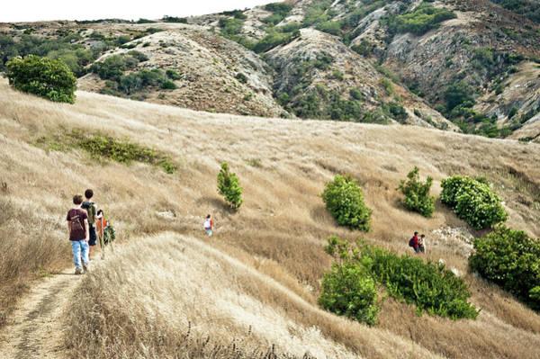 A Family Hikes Across Santa Cruz Island Poster
