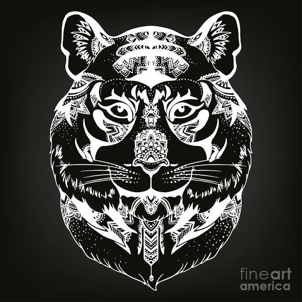 Animal Head Print For Adult Anti Stress Poster