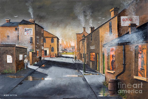 Black Country Village From The Boat Yard Poster