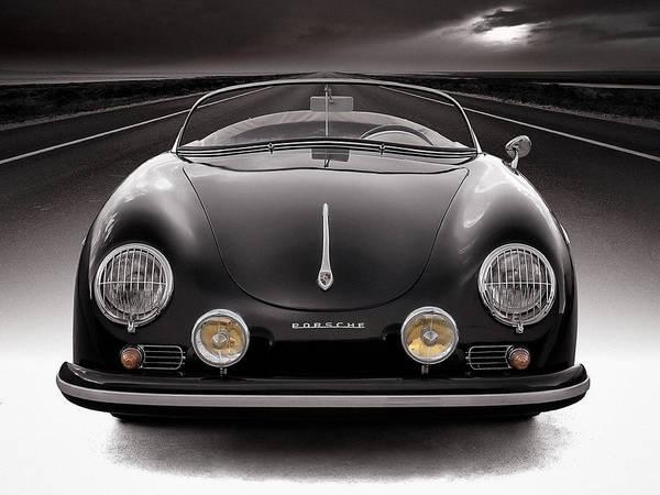 Black Porsche Speedster Poster
