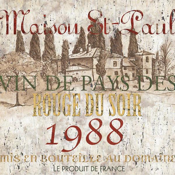 Bordeaux Blanc Label 1 Poster
