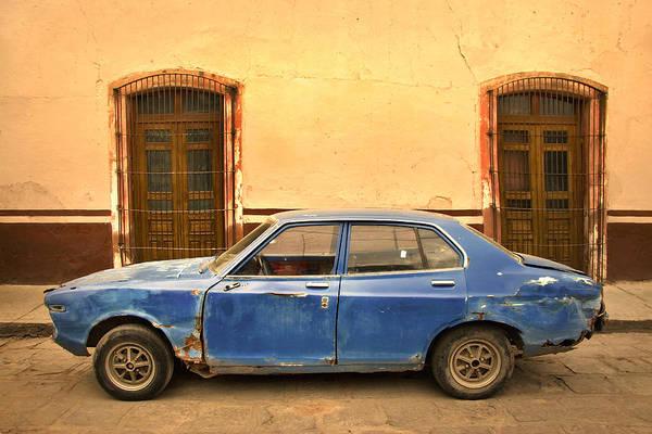 Car In Zacatecas Mexico Poster
