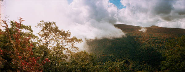 Clouds Over Mountain, Catskill Poster