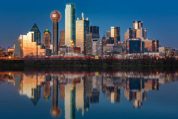 Poster featuring the photograph Dallas Skyline by Mihai Andritoiu