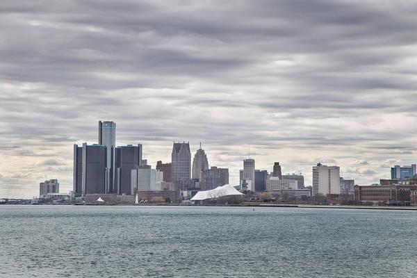 Detroit Skyline From Belle Isle Poster