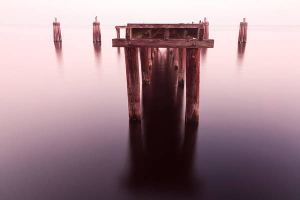 Dock At Twilight Poster