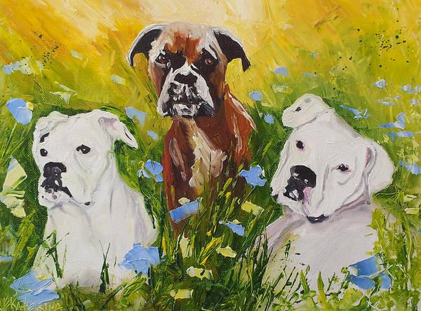 Dogs Painting Fine Art By Ekaterina Chernova Poster