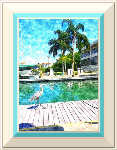 Dry Dock Bird Walk - Digitally Framed Poster