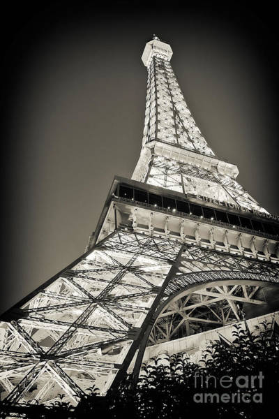 Poster featuring the photograph Eiffel Tower Paris Las Vegas by Kate McKenna