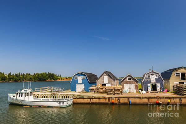 Fishing Dock In Prince Edward Island  Poster