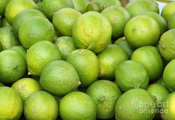 Fresh Green Lemons Poster