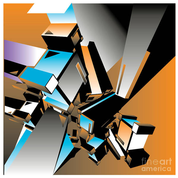 Geometric Colorful Design Abstract Poster