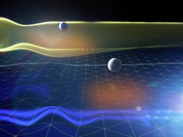 Gravitational Waves And Earth Poster
