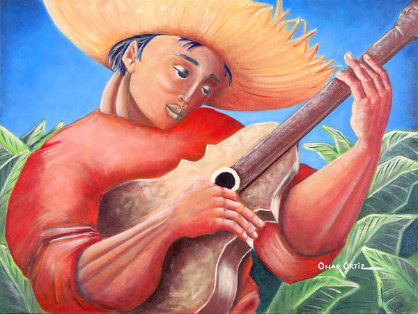 Poster featuring the painting Hidalgo Campesino by Oscar Ortiz