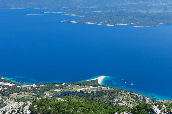High Angle View Of The Hvar Island Poster