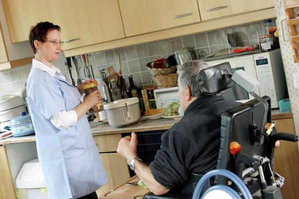 Home Help For Disabled Person Poster