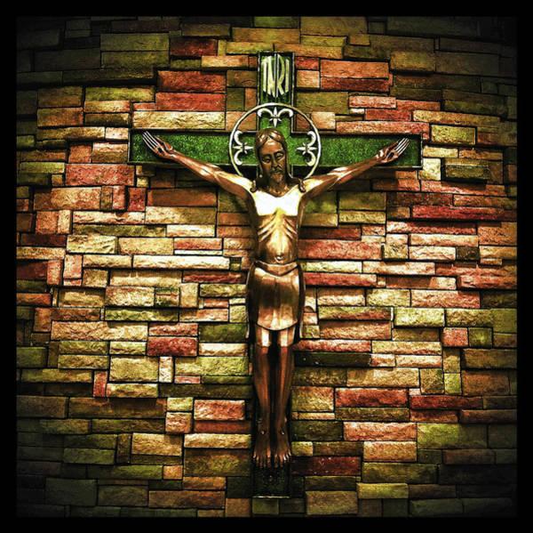 Jesus Is His Name Black Border Poster