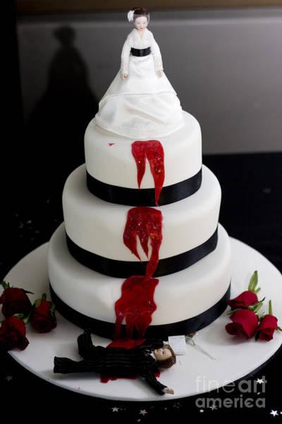 Killer Bride Wedding Cake Poster