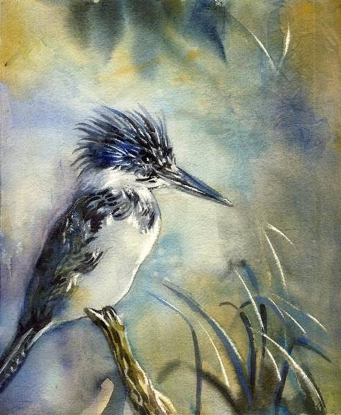 Kingfisher Watercolor Poster