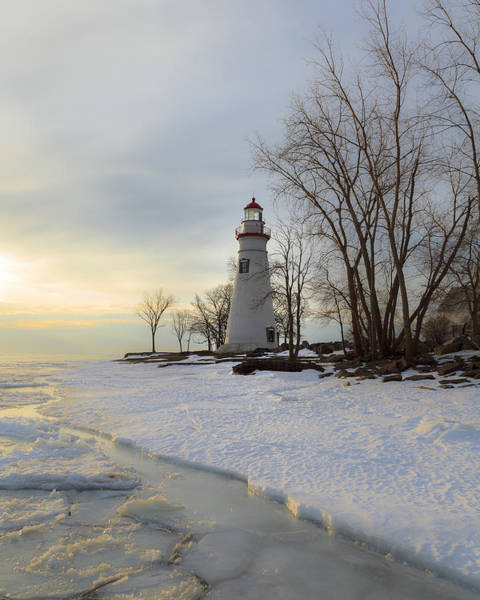 Marblehead Lighthouse Winter Sunrise Poster