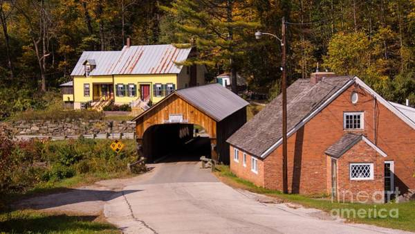 Mill Covered Bridge. Poster