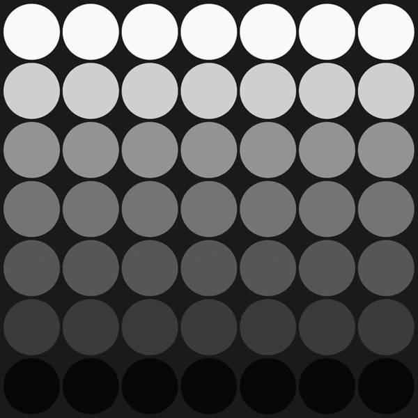 Mod Pop Gradient Circles Black And White Poster