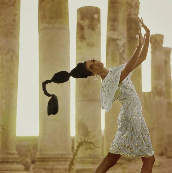 Model By Columns At Jerash Poster