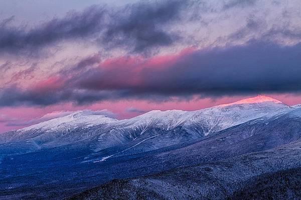 Mount Washington Summit In The Alpenglow Poster