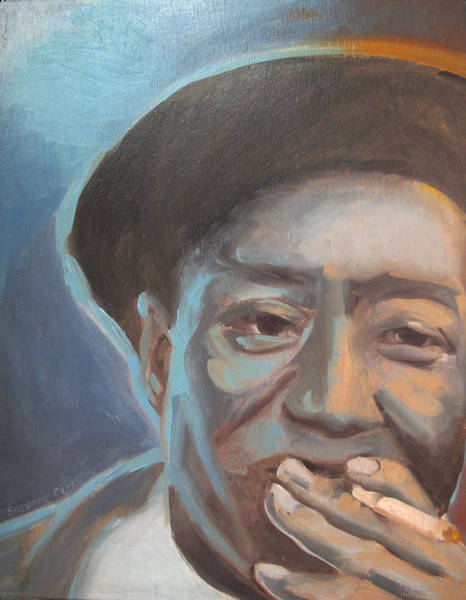 Muddy Waters Blues Guitarist Poster