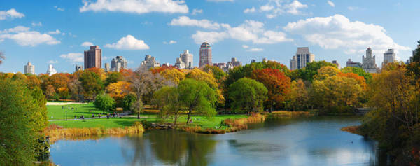 New York City Manhattan Central Park Panorama Poster