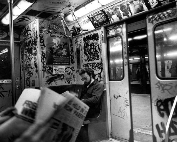 Poster featuring the photograph New York Subway by Emanuel Tanjala