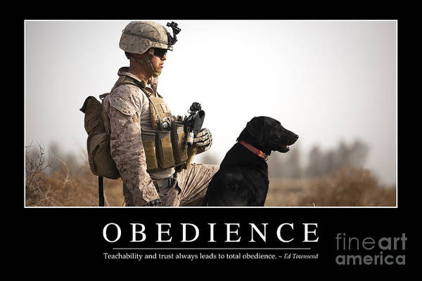 Obedience Inspirational Quote Poster