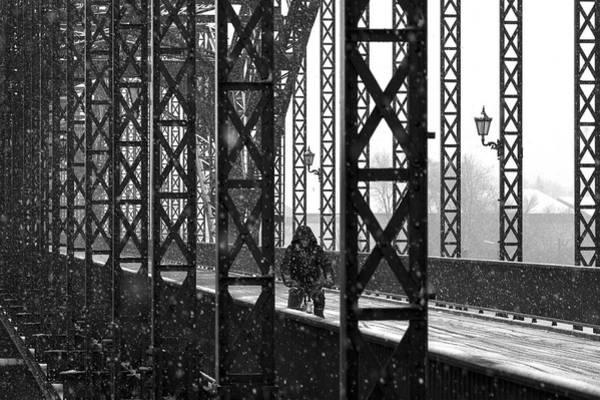 Old Harburg Bridge Poster