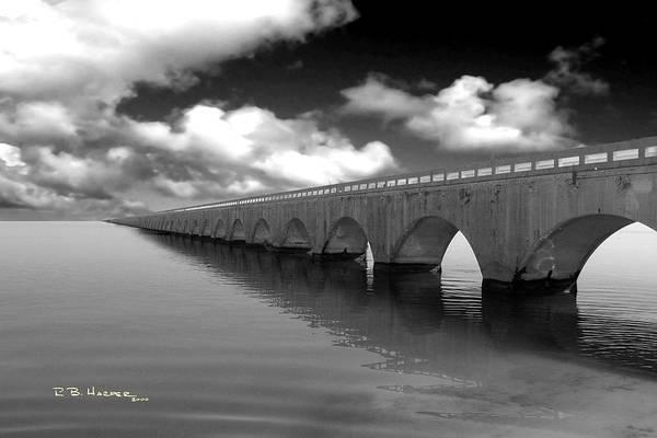 Old Seven Mile Bridge Florida Keys  Poster