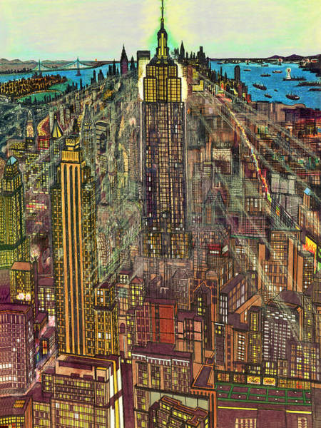 New York Mid Manhattan 1971 Poster