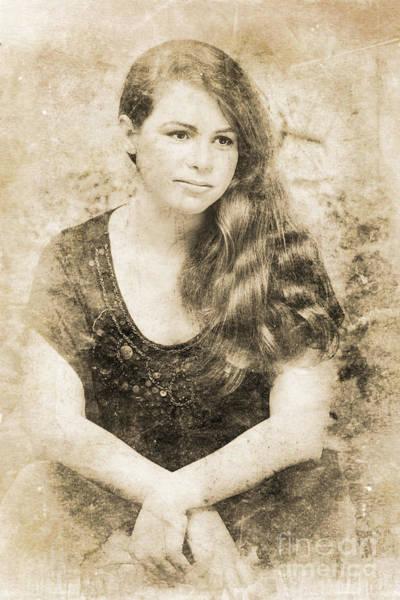 Portrait Of A Vintage Lady Poster