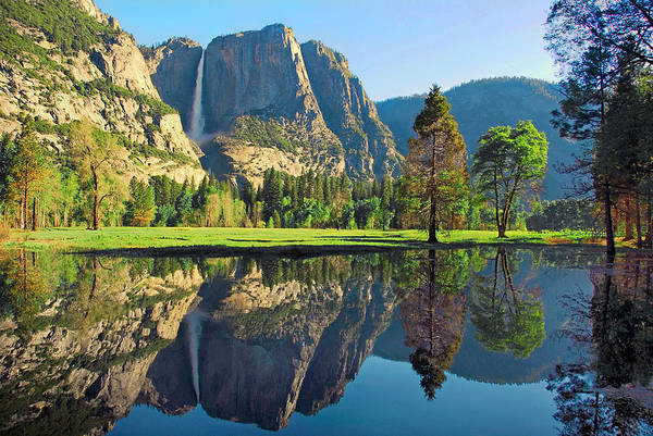 Reflections Of Yosemite Falls Poster