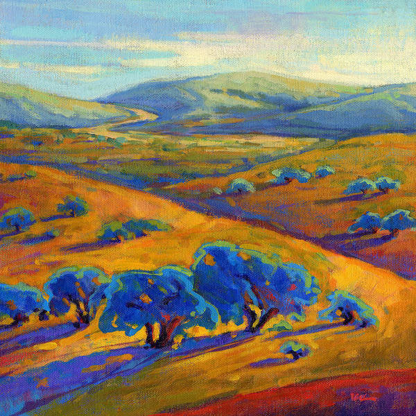 Poster featuring the painting Rolling Hills 1 by Konnie Kim