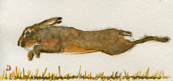 Running Hare Poster