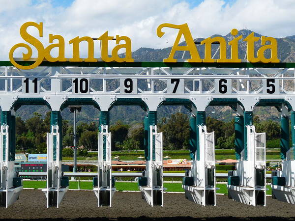 Santa Anita Starting Gate Poster