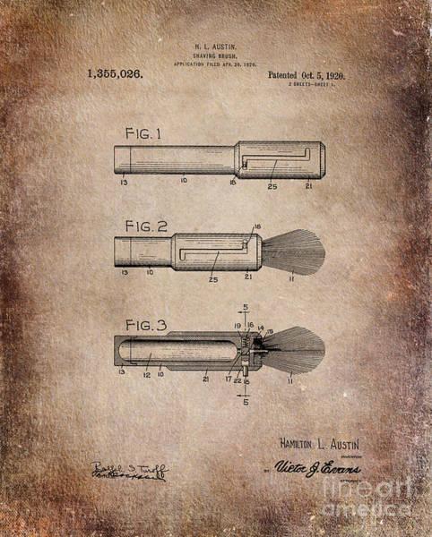 Shaving Brush Diagram 1920  Poster