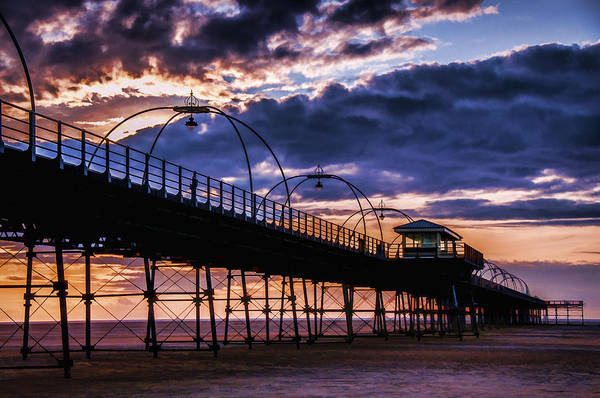 Southport Pier At Sunset Poster