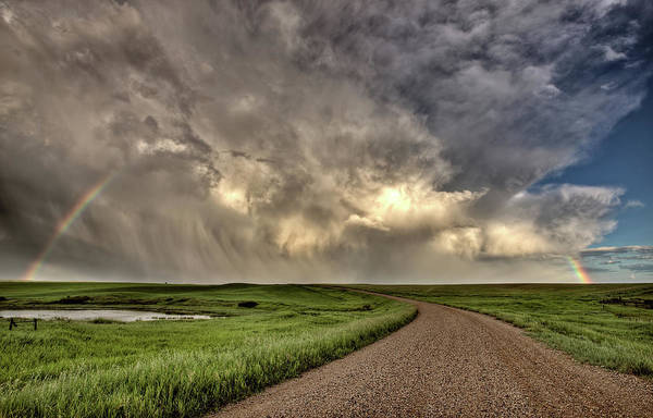 Storm Clouds Prairie Sky Saskatchewan Poster