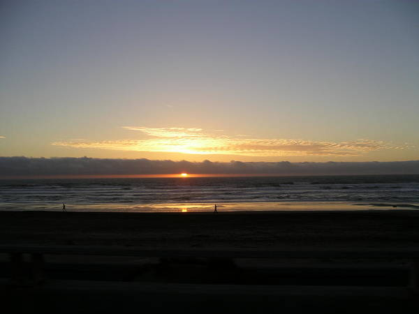 Sunset At Ocean Beach  Poster