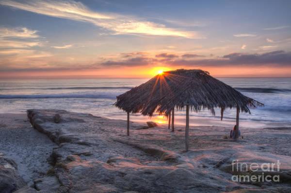 Sunset At Windansea Beach Poster
