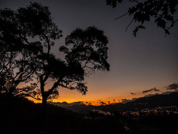 Sunset Over Copan Poster