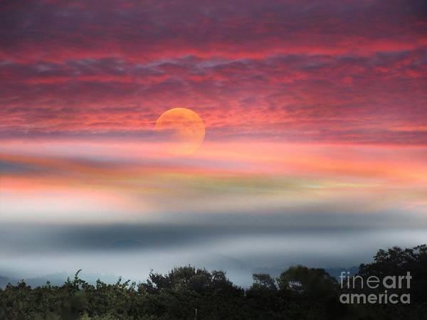 Super Moon Over Santa Rosa Poster