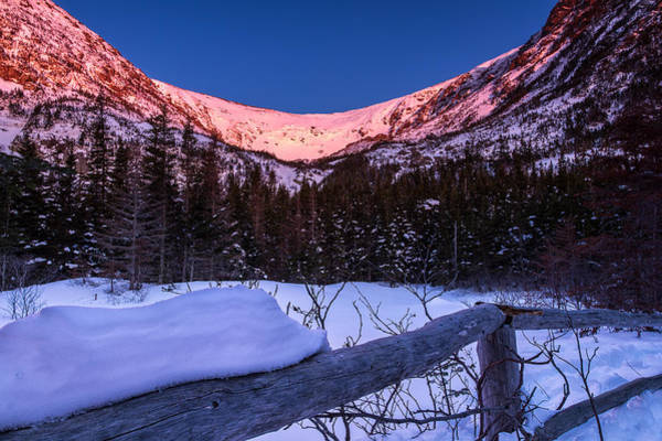 Tuckerman Ravine In The Winter Alpenglow Poster